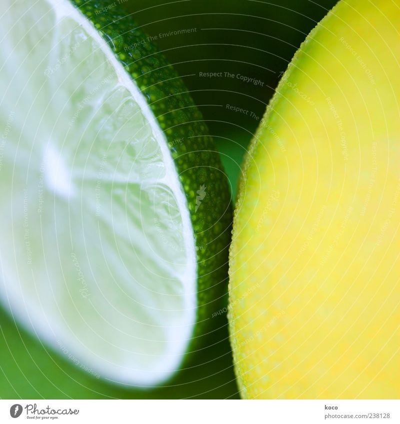 Nette Limette weiß grün schwarz gelb kalt Frucht ästhetisch Kreis Coolness rund Erfrischung Symmetrie Zitrone saftig Hülle sauer