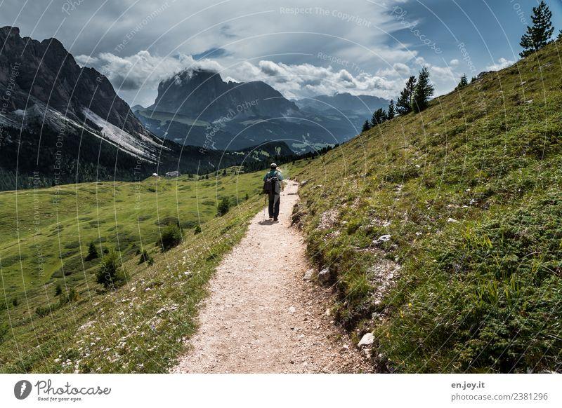 Wanderer Leben Wohlgefühl Erholung ruhig Freizeit & Hobby Ferien & Urlaub & Reisen Tourismus Ausflug Abenteuer Ferne Freiheit Sommer Sommerurlaub