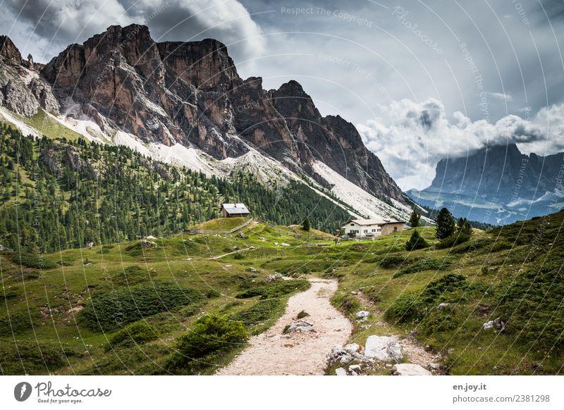 Wanderweg Natur Ferien & Urlaub & Reisen Sommer Landschaft Erholung Ferne Berge u. Gebirge Wege & Pfade Wiese Tourismus Felsen Ausflug wandern Abenteuer Italien
