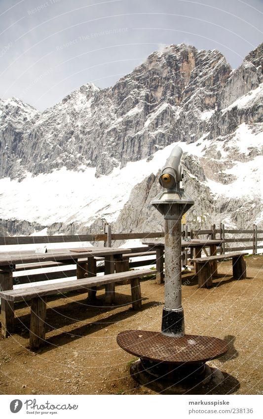 ausguck dachstein südwandhütte Ferien & Urlaub & Reisen Sommer Ferne Schnee Berge u. Gebirge Ausflug Tourismus Alpen Gipfel Aussicht Schneebedeckte Gipfel