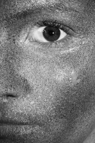 Reptiloid I Körperpflege Haut Gesicht Schminke Gesundheit Behandlung androgyn Junge Frau Jugendliche Auge 1 Mensch 13-18 Jahre Gemälde glänzend außergewöhnlich