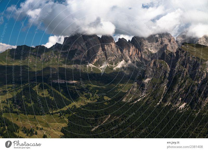 Geisslergruppe Natur Ferien & Urlaub & Reisen Sommer Landschaft Erholung Wolken Ferne Berge u. Gebirge Tourismus Felsen Ausflug wandern Abenteuer