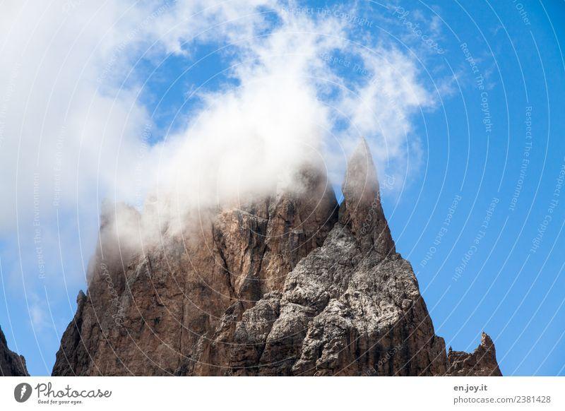 Spitzbergen Himmel Natur Ferien & Urlaub & Reisen blau Landschaft Wolken Ferne Berge u. Gebirge Freiheit Felsen Abenteuer groß Vergänglichkeit hoch Spitze Klima