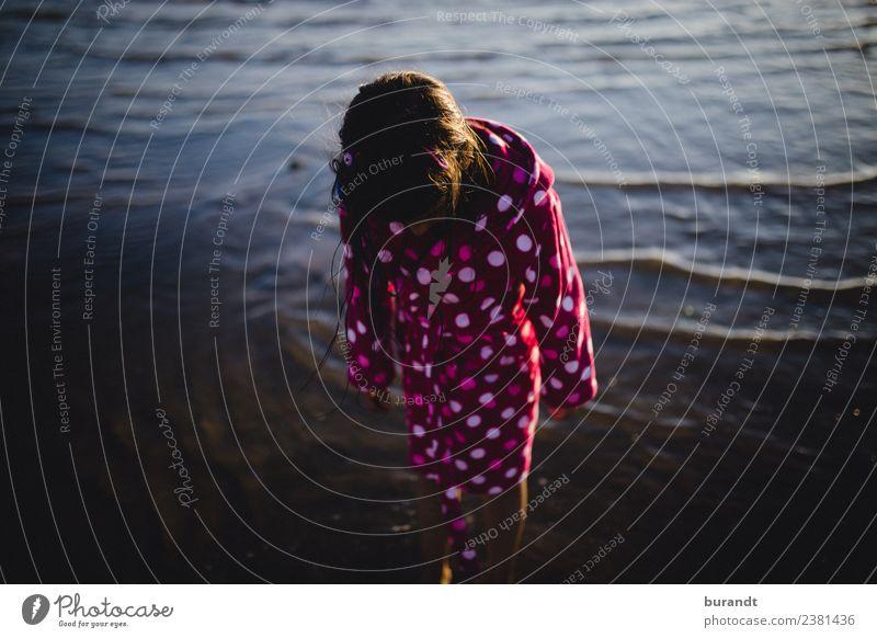 Sommer am Meer I Schwimmen & Baden Ferien & Urlaub & Reisen Ausflug Sonne Strand feminin Kind Mädchen Körper 1 Mensch 3-8 Jahre Kindheit Wasser Bademantel