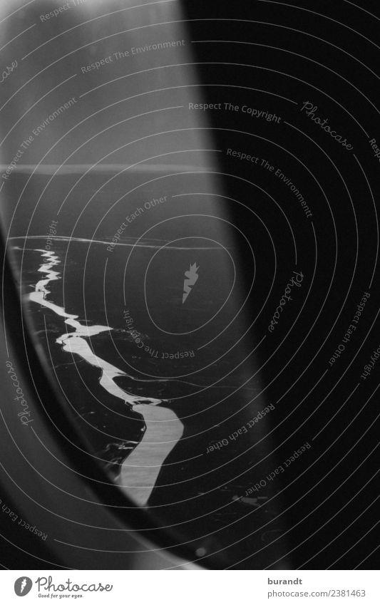 Heart of Darkness Landschaft Urelemente Fluss schön Fernweh Abenteuer ästhetisch Stil dunkel Wetter schwarz Horizont graphisch schlangenförmig Gewitter Himmel