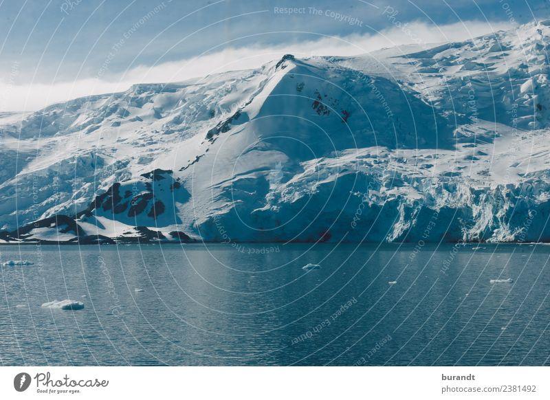 antarctic landscape Landschaft Winter Berge u. Gebirge Gipfel Schneebedeckte Gipfel Gletscher Meer Polarmeer antarktische See kalt blau Eisberg