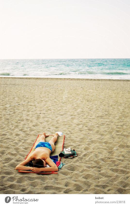 Sonnenbrand ich komme Frau Ferien & Urlaub & Reisen Meer Strand Erholung Sand Wellen Sonnenbad Meerwasser