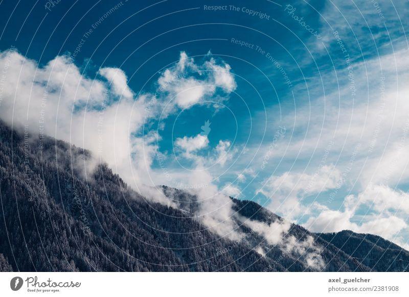 Blue Mountain Drama Ferien & Urlaub & Reisen Tourismus Ausflug Abenteuer Freiheit Schnee Winterurlaub Berge u. Gebirge wandern Natur Landschaft Himmel Wolken