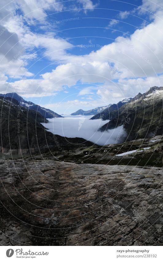 Nebelmeer um 16.30Uhr Himmel Natur schön Wolken Ferne kalt Berge u. Gebirge Freiheit Luft Wetter Unendlichkeit Blauer Himmel