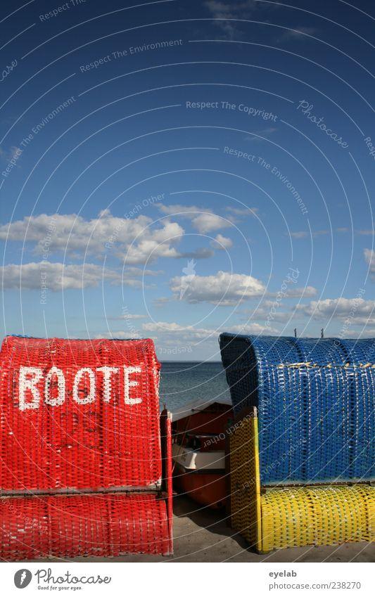 Götter... (2) Himmel rot Meer Sommer Strand Freude Wolken ruhig Erholung Sand Horizont Wasserfahrzeug Schwimmen & Baden Zufriedenheit Freizeit & Hobby Schriftzeichen