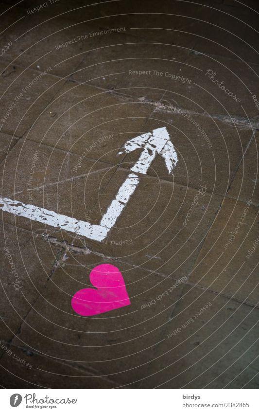 Gut zu wissen Nachtleben Nachtclub Zeichen Herz Linie Pfeil Liebe authentisch positiv grau rosa weiß Freude Frühlingsgefühle Vorfreude Sex Neugier Partnerschaft