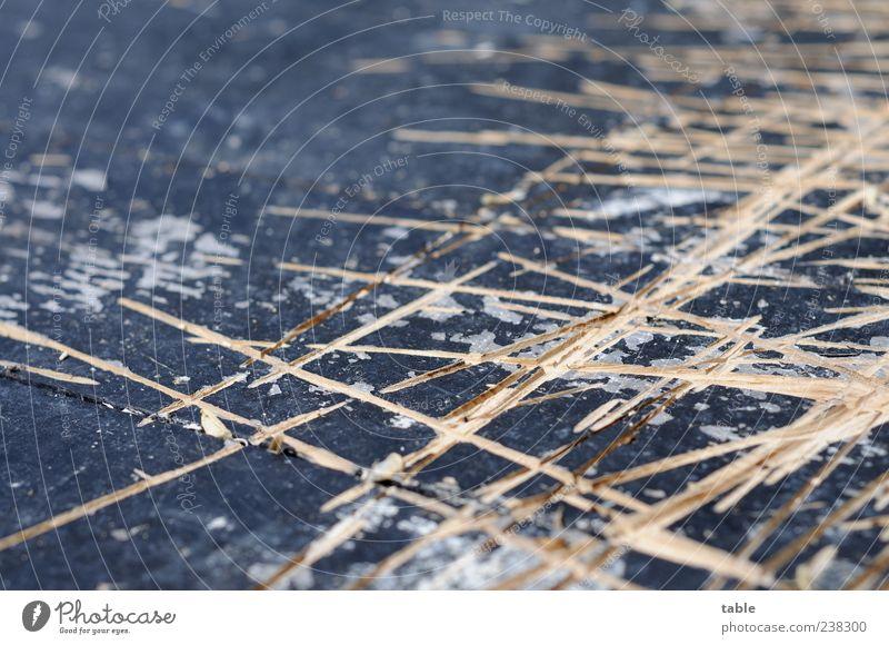 scratched Holzplatte Bodenbelag Bühne Linie alt eckig kaputt braun grau schwarz anstrengen Verfall Wandel & Veränderung Zerstörung verkratzt Furche Muster