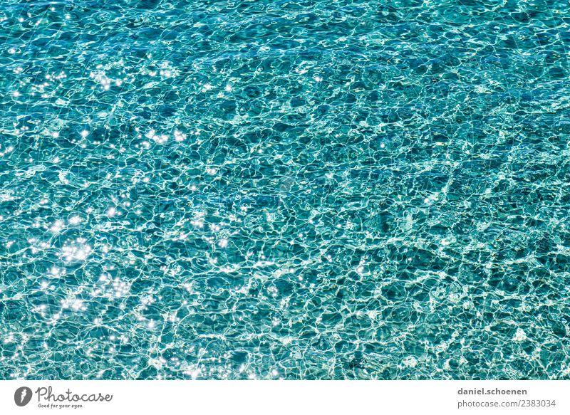 Mittelmeer 1 Schwimmen & Baden Ferien & Urlaub & Reisen Sommer Meer Wellen Wasser Flüssigkeit glänzend maritim blau türkis rein abstrakt mehrfarbig Menschenleer