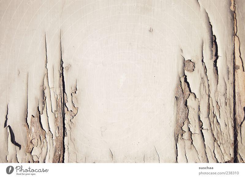 rissig .. Gebäude Mauer Wand Fassade Holz alt kaputt Verfall Vergänglichkeit Wandel & Veränderung Riss Lack Gedeckte Farben Außenaufnahme Detailaufnahme
