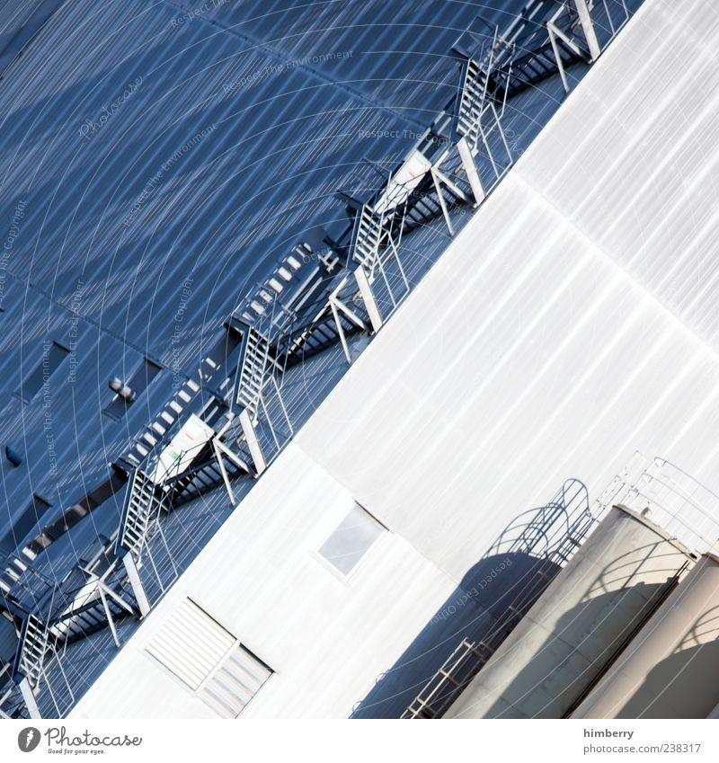 treppenhaus Architektur Gebäude hell Fassade Treppe groß Beginn Design Perspektive Industrie Industriefotografie Fabrik Bauwerk Treppenhaus anstrengen Halle