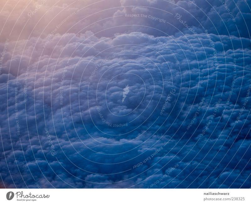 Über den Wolken Ferien & Urlaub & Reisen Tourismus Ferne Umwelt Natur Luft Himmel nur Himmel Sonnenaufgang Sonnenuntergang Sonnenlicht Wetter Regen Verkehrswege