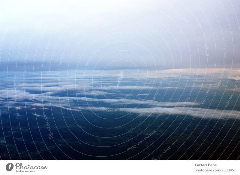 Horizont Himmel blau Ferien & Urlaub & Reisen Wolken Landschaft Freiheit Luft Horizont Ausflug Aussicht Ebene
