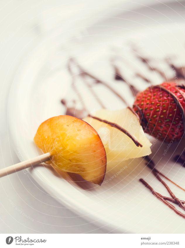 choc'fruits Lebensmittel Frucht Dessert Schokolade Vegetarische Ernährung Teller lecker süß fruchtig Foodfotografie ästhetisch Farbfoto Innenaufnahme