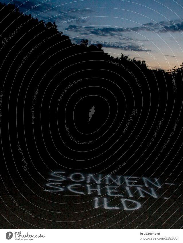 everybody loves the sunshine Sonne Sommer Straße dunkel Graffiti Gefühle Schriftzeichen Lebensfreude Abenddämmerung Frühlingsgefühle Liebeserklärung