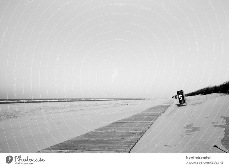 Spiekeroog | Nummer 5 Himmel Natur Ferien & Urlaub & Reisen Meer Sommer Strand Ferne Landschaft Wege & Pfade Freiheit Sand Stimmung ästhetisch Romantik