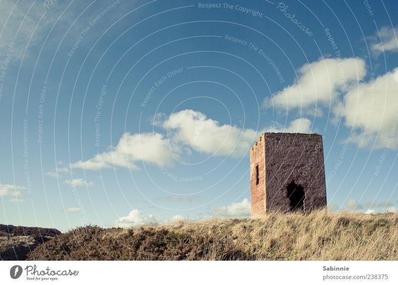 Wachturm für Bella Ferien & Urlaub & Reisen Sommer Turm Umwelt Natur Erde Himmel Wolken Sonne Wind Pflanze Hügel Küste Schottland Fassade Fenster Tür