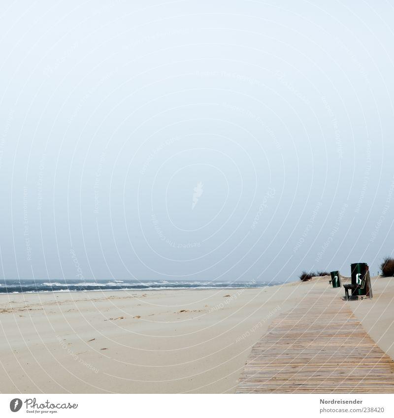 Spiekeroog | Nummer 6 Himmel Natur Wasser Ferien & Urlaub & Reisen Meer Sommer Strand ruhig Einsamkeit Erholung Landschaft Holz Wege & Pfade Sand Stimmung