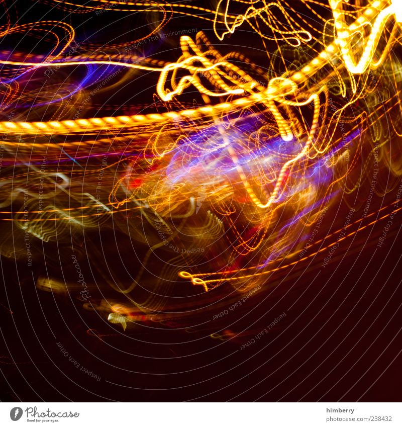 kurzschluss gelb Bewegung Stil wild Design verrückt chaotisch durcheinander Nacht abstrakt High-Tech Leuchtspur