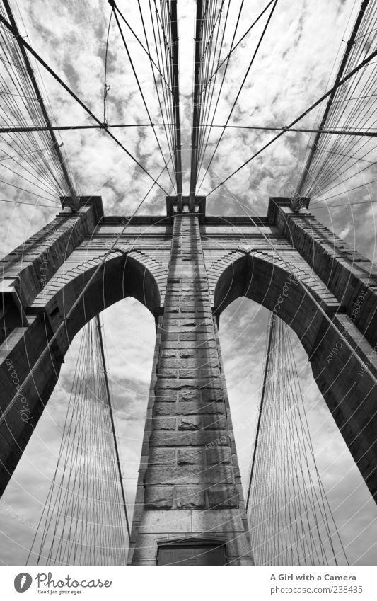 take me to Brooklyn Himmel Ferien & Urlaub & Reisen Wand Architektur Stein Mauer außergewöhnlich hoch Seil authentisch Brücke einzigartig USA Bauwerk