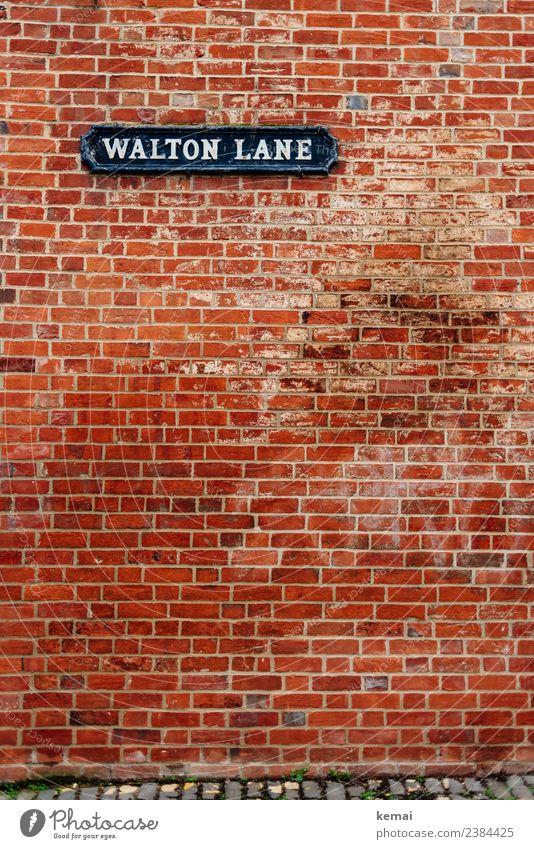 Walton Lane, Oxford Stil Tourismus Sightseeing Städtereise England Stadt Stadtzentrum Altstadt Haus Mauer Wand Fassade Backsteinwand Backsteinfassade