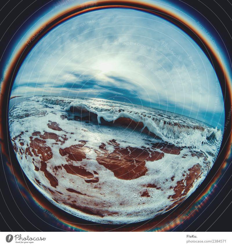 Nordseewelle Ferien & Urlaub & Reisen Tourismus Ferne Freiheit Sommerurlaub Strand Meer Wellen Umwelt Natur Urelemente Sand Wasser Himmel Wolken Wetter Küste