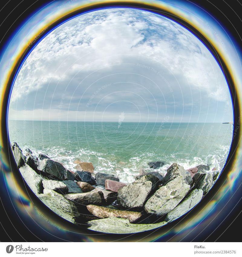 my World Ferien & Urlaub & Reisen Ausflug Ferne Freiheit Strand Meer Wellen Umwelt Natur Landschaft Urelemente Wasser Himmel Wolken Küste Nordsee Dänemark