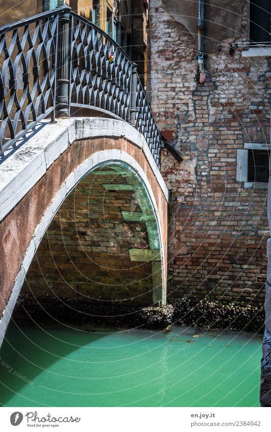 Brückenschlag Ferien & Urlaub & Reisen alt Sommer Stadt Wand Senior Mauer Tourismus Fassade Ausflug dreckig Vergänglichkeit Italien Klima Sommerurlaub