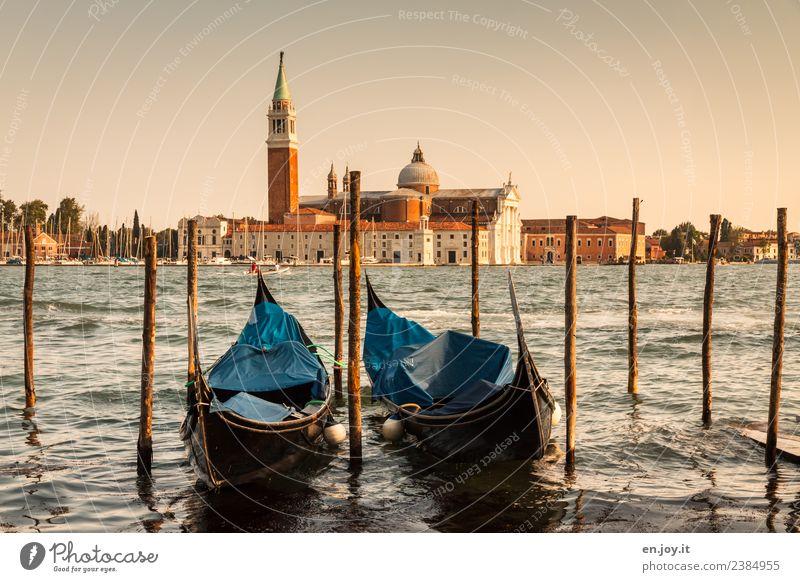 rumgondeln Ferien & Urlaub & Reisen Tourismus Ausflug Städtereise Sommer Sommerurlaub Meer Venedig Italien Stadt Hafenstadt Altstadt Kirche Gebäude