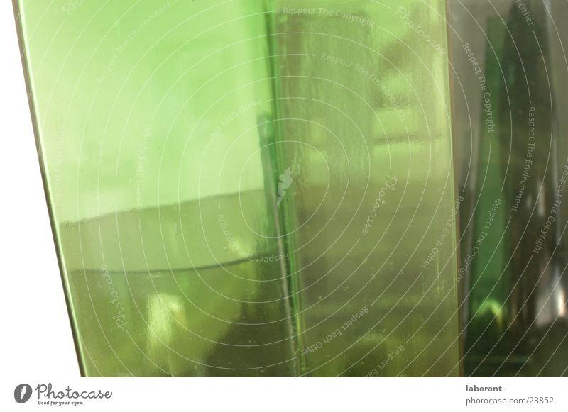 glasvasen3 grün Glas Häusliches Leben durchsichtig Vase Behälter u. Gefäße Murano