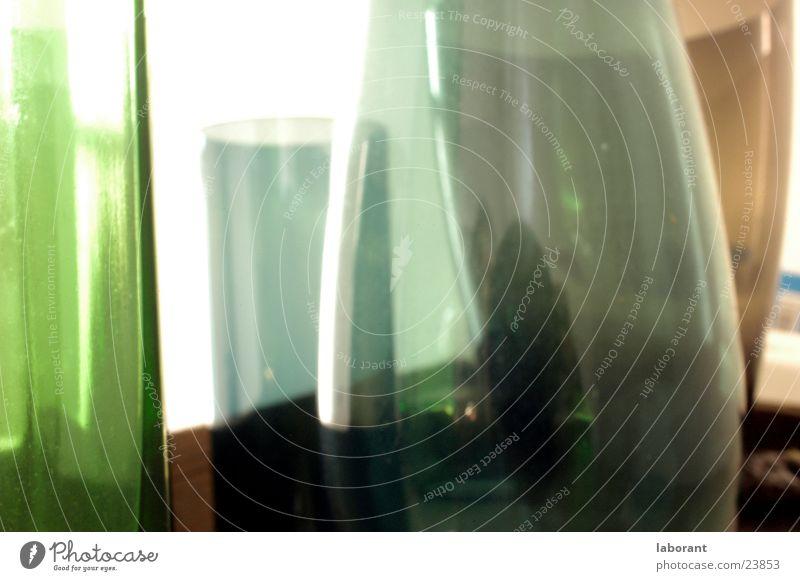 glasvasen2 grün Glas Häusliches Leben durchsichtig Vase Behälter u. Gefäße Venedig Murano