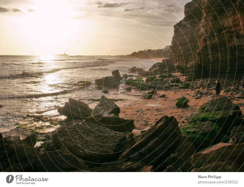Atlantis Natur Wasser Ferien & Urlaub & Reisen Meer Strand Wolken Einsamkeit Ferne Umwelt Landschaft Küste Freiheit Stein Stimmung Horizont Erde