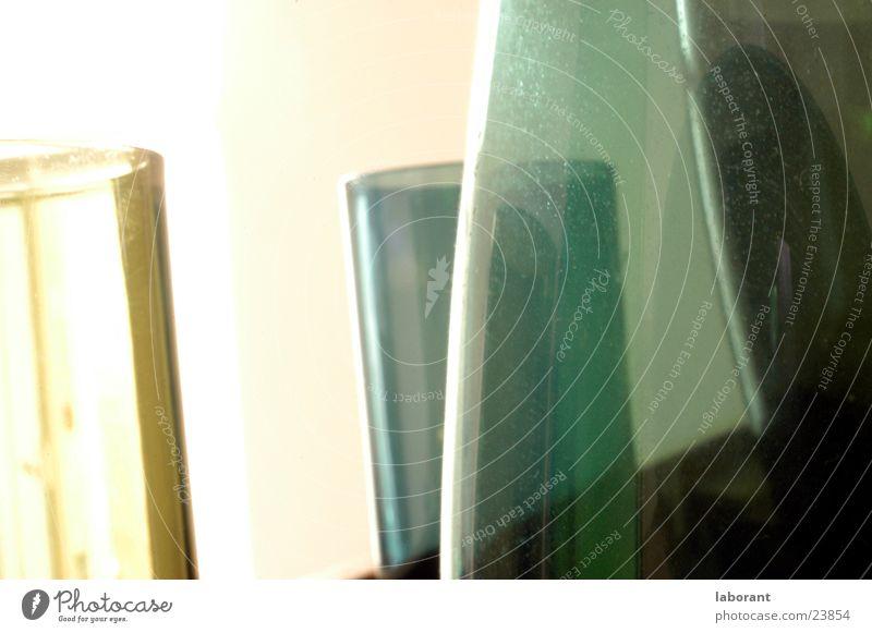 glasvasen grün Glas Häusliches Leben durchsichtig Vase Behälter u. Gefäße Murano