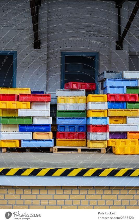 #S# Box Parade Kasten Arbeit & Erwerbstätigkeit mehrfarbig viele Kiste sortieren Güterverkehr & Logistik Lager Hafen Lagerhaus Lagerhalle Ordnung chaotisch