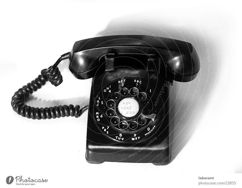 Telefon Telekommunikation Kabel Publikum Sechziger Jahre Wählscheibe