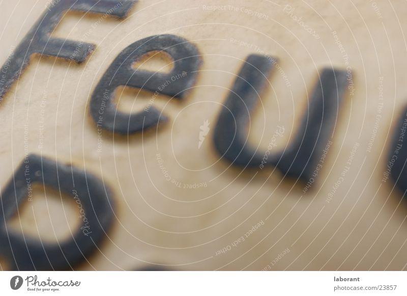 Schild >>Feuer<< Brand Schilder & Markierungen Industrie Schriftzeichen Buchstaben Typographie Verbote