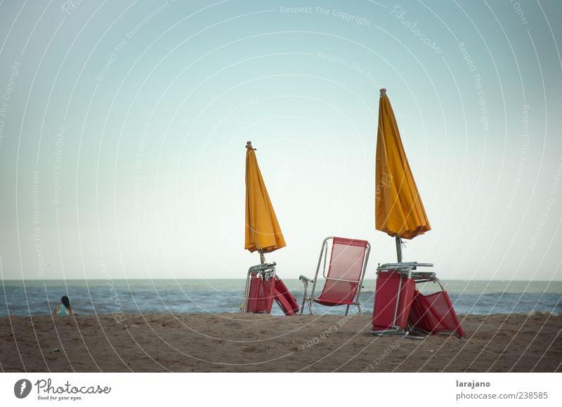 Mensch Himmel Natur Wasser Ferien & Urlaub & Reisen Sonne Sommer Meer Strand Freude Ferne Umwelt Freiheit Sand Wellen Freizeit & Hobby