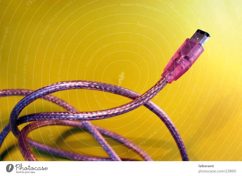 firewirekabel1 rosa Technik & Technologie Kabel Verbindung Draht Stecker Elektrisches Gerät