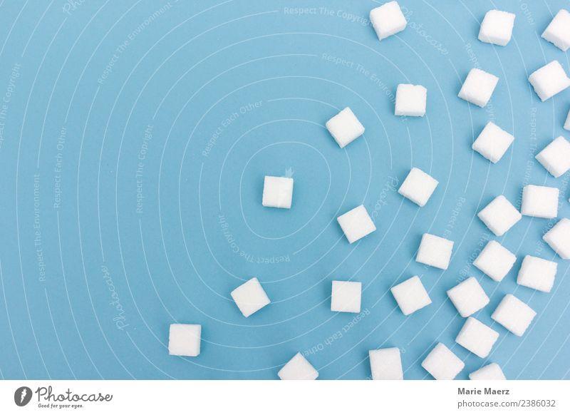 Überall Zucker.... Lebensmittel Ernährung Essen trinken Originalität süß blau weiß Laster diszipliniert Appetit & Hunger Durst genießen Sucht Würfelzucker