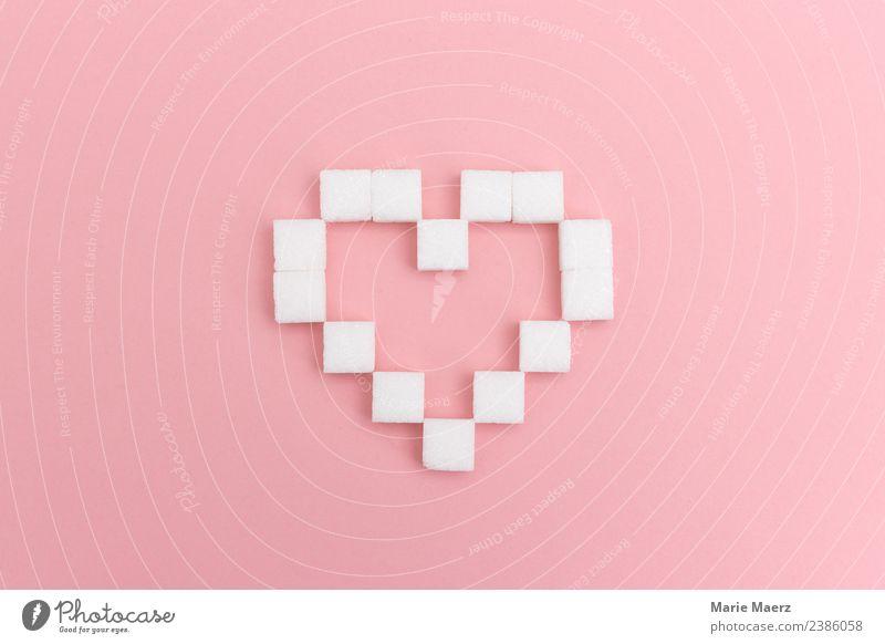 Zuckerliebe - Herz aus Würfelzucker weiß Essen Liebe Glück außergewöhnlich Feste & Feiern rosa Design Ernährung ästhetisch genießen süß einzigartig