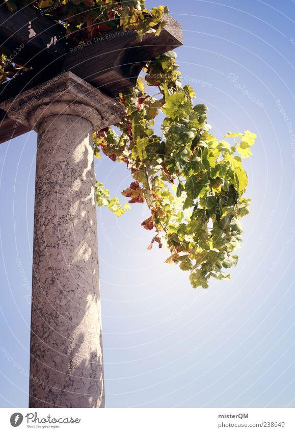 Piece of Paradise. Kunst ästhetisch Paradies paradiesisch Rom Säule Garten Gartenkunst grün Sandstein Himmel himmlisch Ferien & Urlaub & Reisen Urlaubsfoto