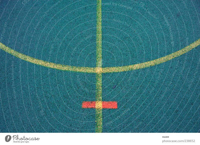 Platzhirsch blau gelb Sport Linie Freizeit & Hobby Schilder & Markierungen Ordnung Bodenbelag Spielfeld Grenze Symmetrie Bogen graphisch Gummi Begrenzung
