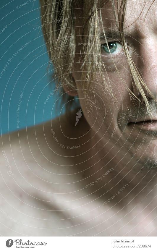 ja, ich will Mensch maskulin Mann Erwachsene Haut Haare & Frisuren Gesicht Auge 1 30-45 Jahre blond Freundlichkeit rebellisch blau Optimismus Willensstärke Mut