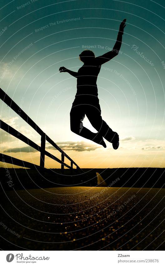 free Mensch Himmel Natur Jugendliche Wolken Erwachsene Erholung Landschaft Straße Wege & Pfade Freiheit Stil träumen fliegen außergewöhnlich maskulin