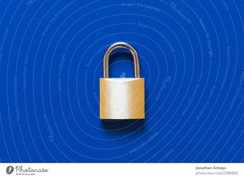 Datenschutz und Verschlüsselung blau Business Textfreiraum gold Europa Telekommunikation Sicherheit Symbole & Metaphern Informationstechnologie