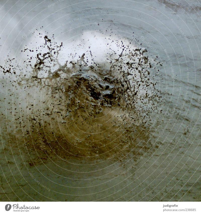 Island Natur Wasser Umwelt Landschaft dunkel außergewöhnlich natürlich Urelemente heiß spritzen Blubbern Vulkan Geothermik Berge u. Gebirge Wasserspritzer